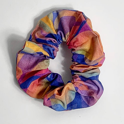 100 % Cotton Scrunchie- Overlapping Leaves Design