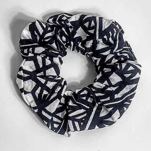100 % Cotton Scrunchie- Monochrome Design