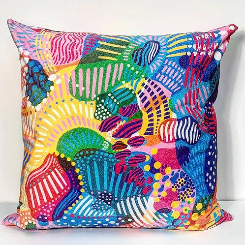 Coral Handmade Cushion 65 X 65 cm