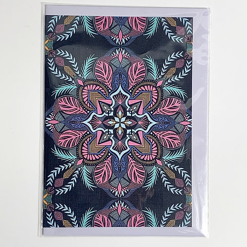 A5 Greeting Card Midnight Pink