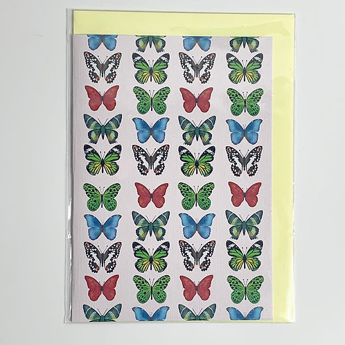 A5 Greeting Card Butterfly Print