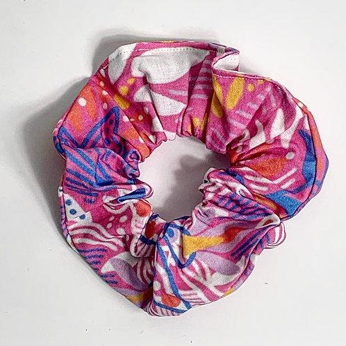 100 % Cotton Scrunchie- Summer Party Design
