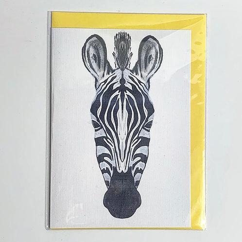 A5 Greeting Card Zebra Print