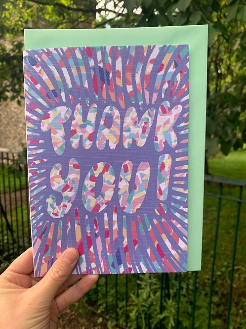 Pastel Thank You Card