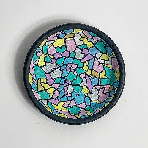Mini Hand Decorated Saucer-Pastel Graphic Design