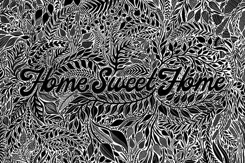 Home Sweet Home Botanical Print A3
