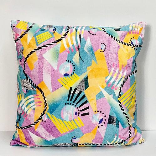 Pastel Disco Handmade Velvet Cushion 50 X 50cm