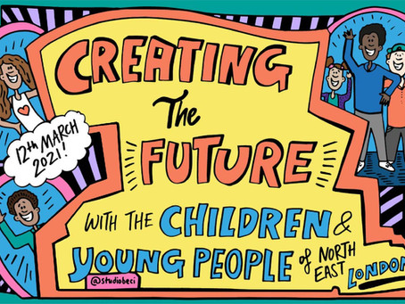 """NHS Virtual Event, """"Creating the Future"""" - Live Illustration"""