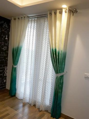 Ombre velvet curtains