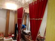 Red Velvet Mandir Curtains