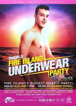 Dworld Underwear Party Fire Island