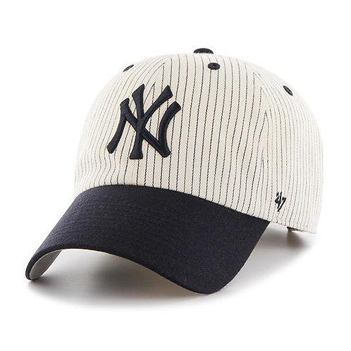 New York Yankees '47 Brand Pinstripe Home Run Cleanup Adjustable Hat