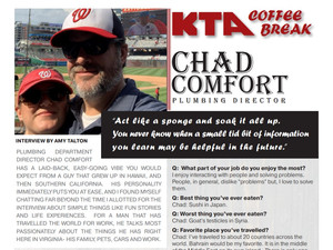 KTA COFFEE BREAK - Chad Comfort Q & A