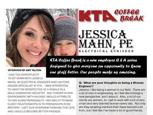 KTA COFFEE BREAK - Jessica Mahn, PE   Q & A