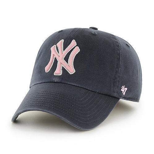 New York Yankees '47 Brand Navy & Pink Cleanup Adjustable Hat