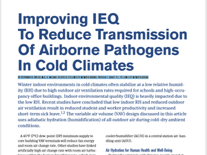 Improving IEQ to Reduce Transmission of Airborne Pathogens in Cold Climates