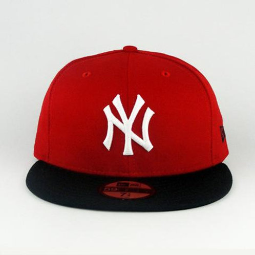 New York Yankees New Era Red/Black 59fifty Fitted Hat