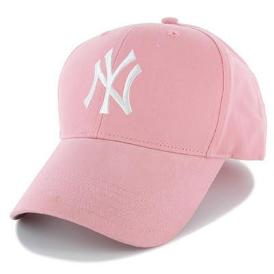 8a8da1f4ee173 Take your little fan out to the ball park and support the Yankees with this  Home Team Logo hat from  47 Brand. It features an embroidered logo on  all-pink ...