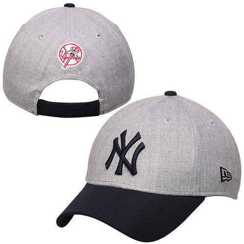 New York Yankees New Era Heather Gray Heathered 9FORTY Adjustable Hat