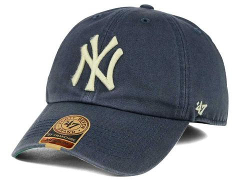 24512ebdcfd235 New York Yankees '47 Brand Vintage Navy Franchise Fitted Cap | mysite-1
