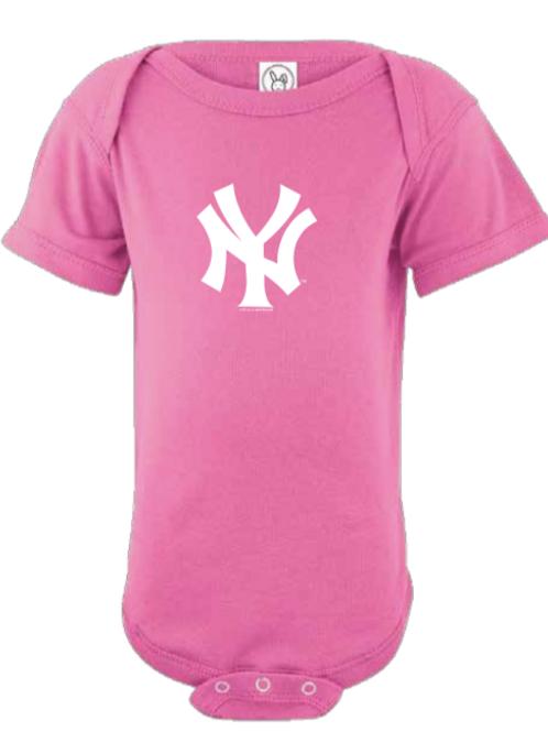 New York Yankees Pink Infant Creeper