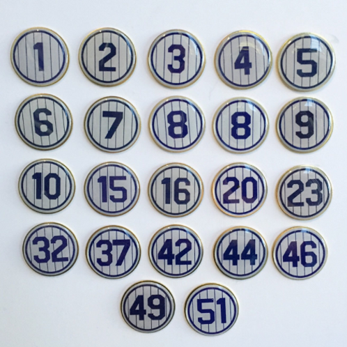 New York Yankees Retired Number Pin
