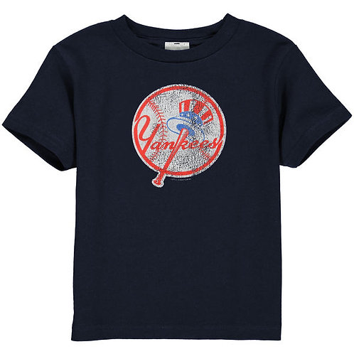 New York Yankees Distressed Logo Toddler T-Shirt
