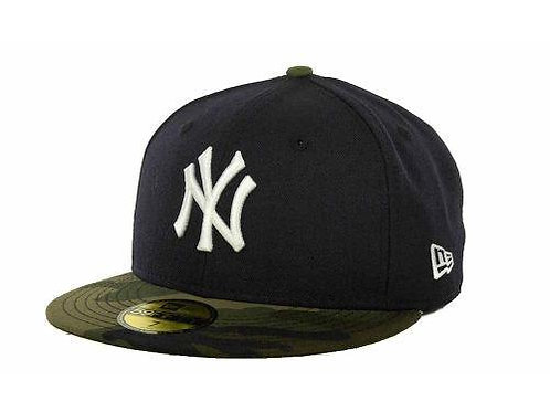New York Yankees New Era Black/Camo 59fifty Fitted Hat