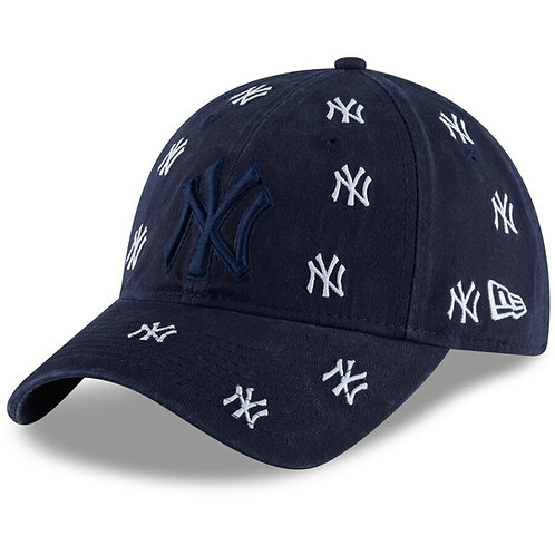 Women's New York Yankees New Era Navy Logo Scatter 9TWENTY Adjustable Hat