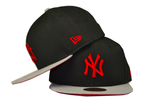 New York Yankees New Era Black/Red/Grey 59fifty Fitted Hat