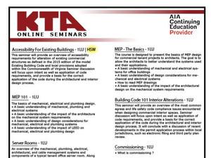 Online Seminars - Earn AIA Learning Units