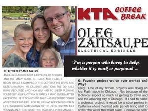 KTA COFFEE BREAK - Oleg Zaitsau, PE  Q & A