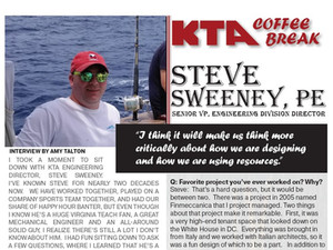KTA COFFEE BREAK - Steve Sweeney, PE Q & A