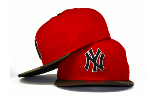 New York Yankees New Era Red/Camo 59fifty Fitted Hat
