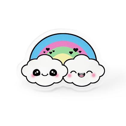 Kawaii Rainbow Clouds Pin