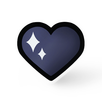 Dark Magical Heart Pin