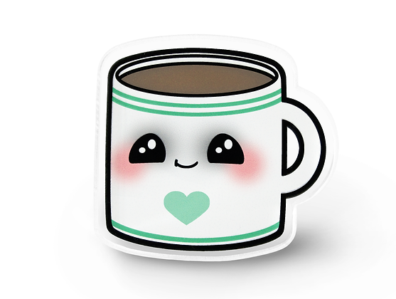 Kawaii Coffee Lapel Pin