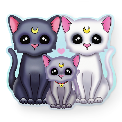 Magical Cat Family Sticker