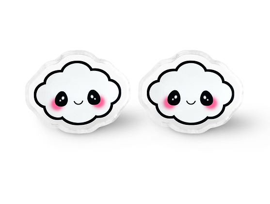 Happy Cloud Earrings - Kawaii Jewelry