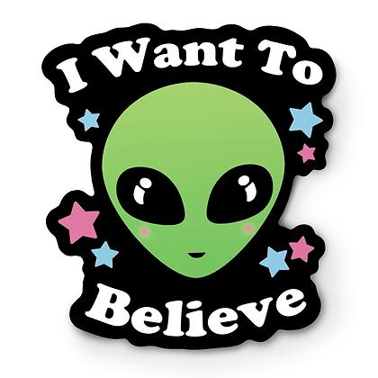 I Want To Believe Alien Sticker
