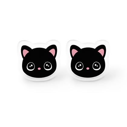 Kawaii Black Cat Earrings