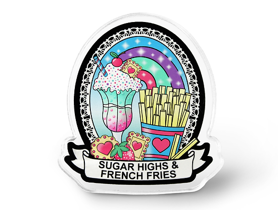 Junk Food Addicts Pin - Kawaii Food, Pastel Grunge Pin