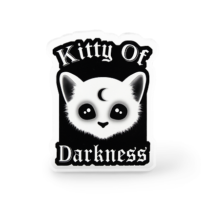Kitty Of Darkness Pin