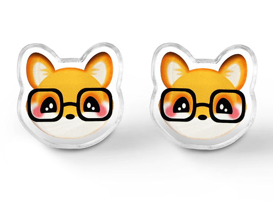 Nerdy Fox Earrings