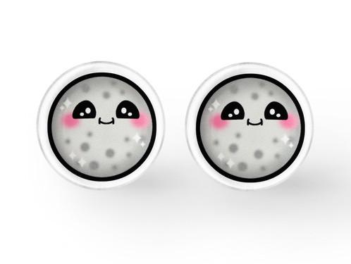 kawaii moon earrings kawaii jewelry soft grunge