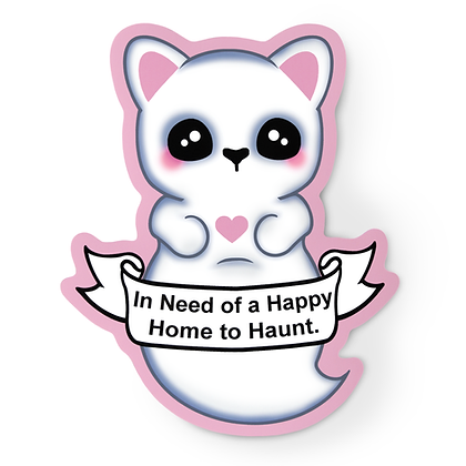 Kawaii Ghost Cat Sticker