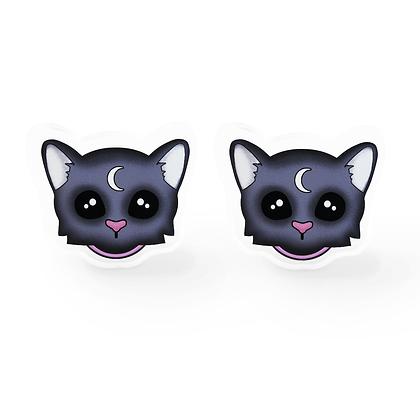 Familiar Cat Earrings