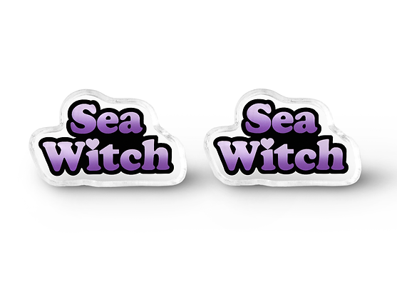 Tiny Sea Witch Earrings - Pastel Goth Jewelry