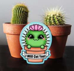 Gremlin Cactus Sticker