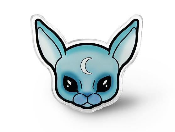 Pastel Goth Bunny Pin